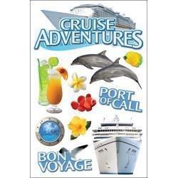 Cruise  3D scrapbook stickers