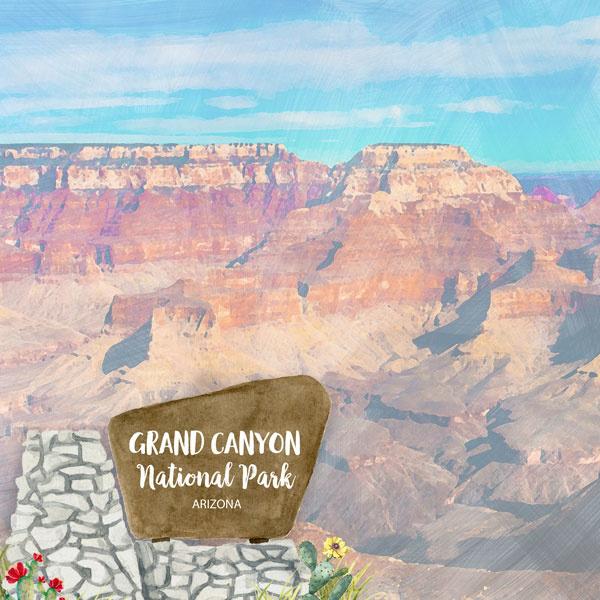 Grand Canyon National Park / Arizona - scrapbook customs - 12x12 inch