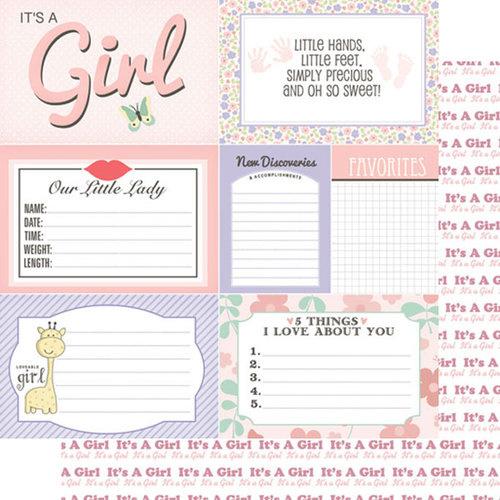 Baby girl journal - scrapbookpapier - 30.5 x 30.5 cm