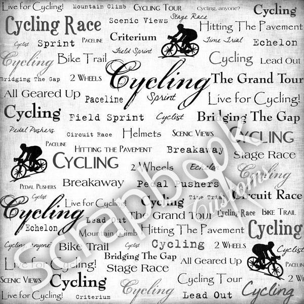Cycling - scrapbookpapier - 30.5 x 30.5 cm