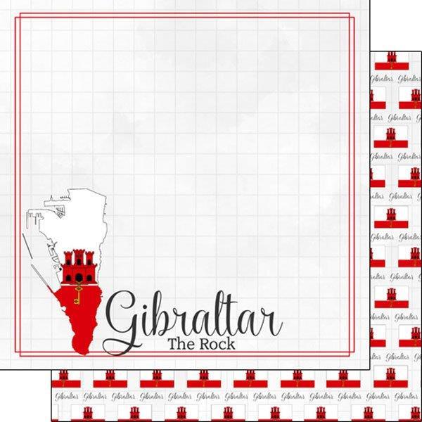 Gibraltar - Adventure border - 30.5 x 30.5 centimeter