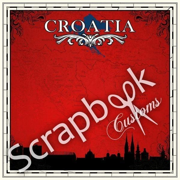 Croatia Sightseeing thema scrapbookpapier 30.5 x 30.5 cm