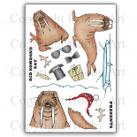 Kerst stempels - Wilfred & Wally  - A5 clear stempel set 15 x 20 cm