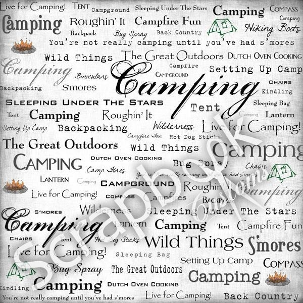 Live for camping - 30.5 x 30.5 scrapbookvel