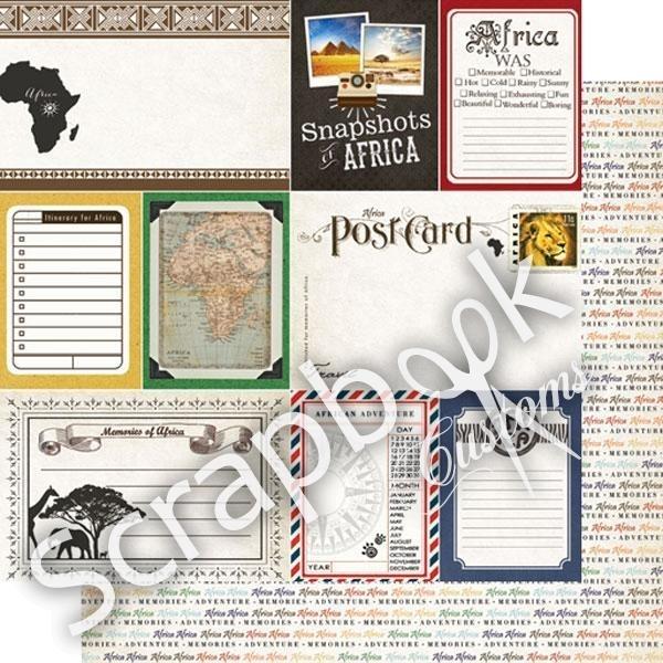 Africa was Memorable - snapshots papier - 30.5x30.5 cm
