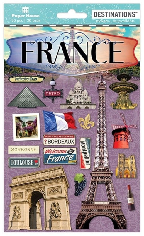 Stickers France travel