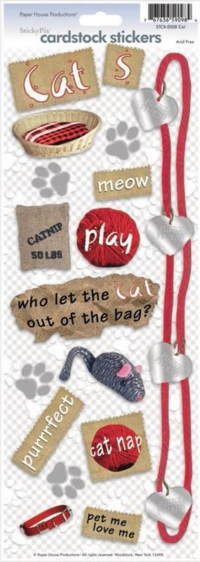 Foto scrapbook stickers - Katten thema