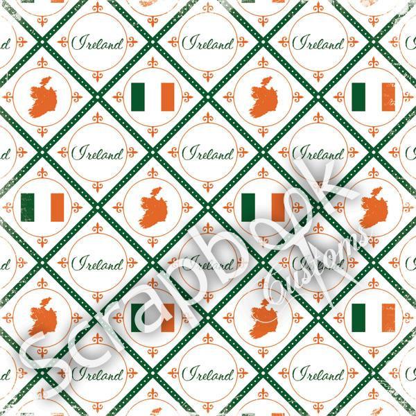 Ireland- Discover - 30.5 x 30.5 cm scrappapier