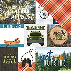 Camping Great Outdoor Tags 30.5 x 30.5 centimeter