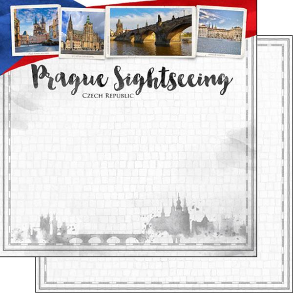 Prague Sightseeing - 12 x 12 - Scrapbook Paper