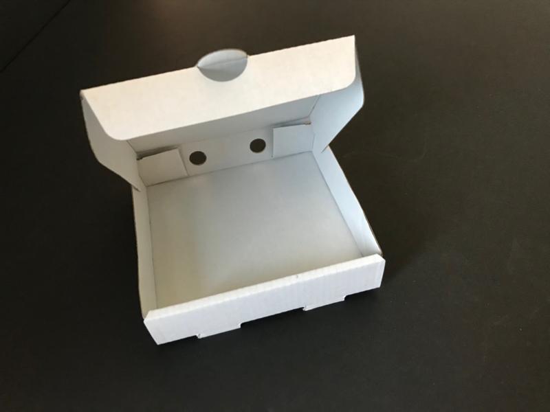 Zelf thema doosjes maken - 9 x 9 x 2 cm, wit, 50 stuks