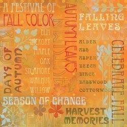 Celebrate Fall Collage herfst woorden papier 30.5 x 30.5 cm