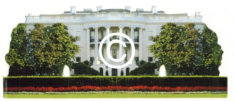 Witte Huis - stans decoratie - 11.5x5 cm