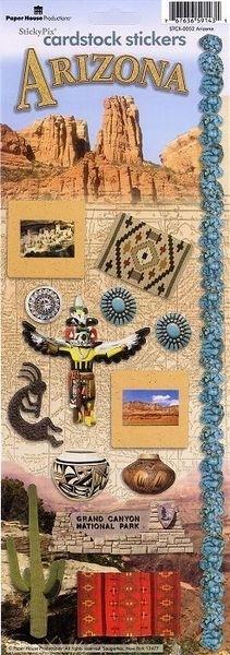 Arizona Scrapbook stickers - Sticky pix