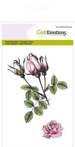 Stempelset Botanische rozenknoppen - A6-formaat