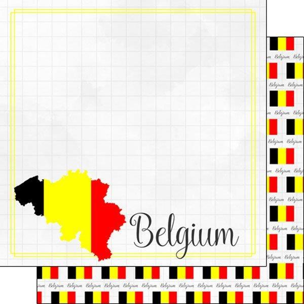 België - Adventure Border 12x12 scrapbookpapier