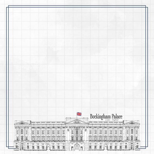 Buckingham Palace Adventure  - dubbelzijdig scrapbook papier