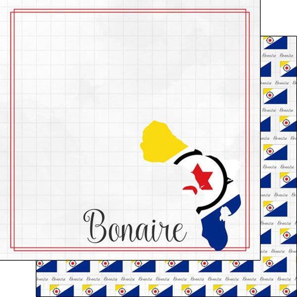Bonaire - Adventure border - dubbelzijdig scrapbook papier - 12x12 inch