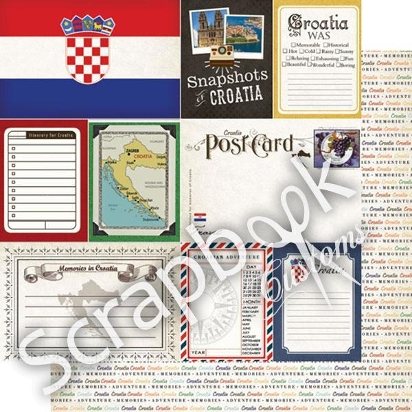 Croatia - Journal scrapbookpapier 30.5x30.5 cm
