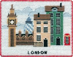 London - Borduurpakket 10 x8 cm