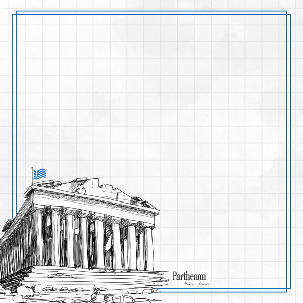 Parthenon Adventure  - dubbelzijdig scrapbook papier