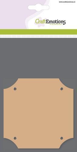 MDF Vierkant - 10x10cm  - 3 stuks in verpakking