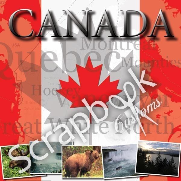 Canada 12 x 12 inch Scrapbook papier