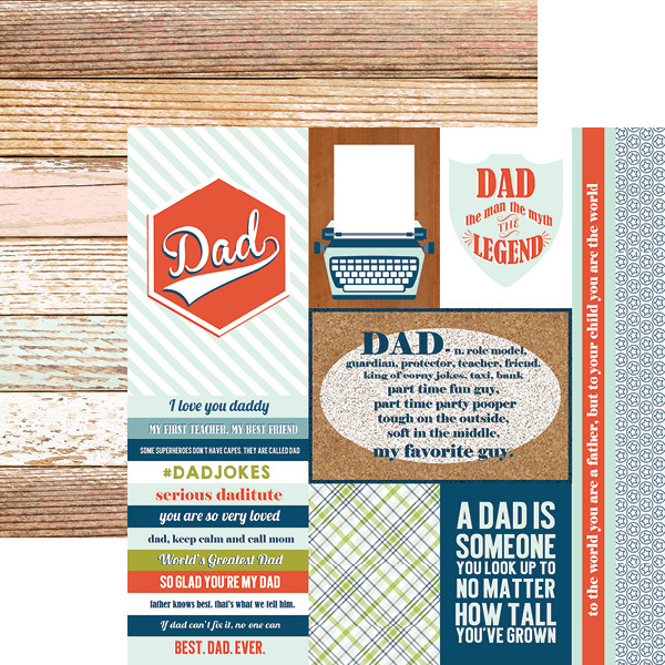 Dad Tags - 30.5 x 30.5 centimeter