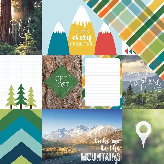 Mountain Tags scrapbook papier
