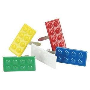Bouwsteentjes in 4 vrolijke kleuren splitpennen 12 stuks
