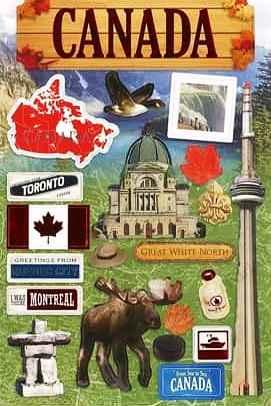 Stickers Travel Canada