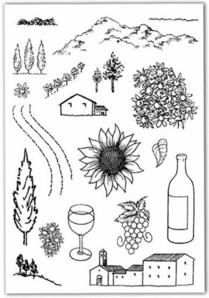 Clear stamps - Tuscany / Toscane