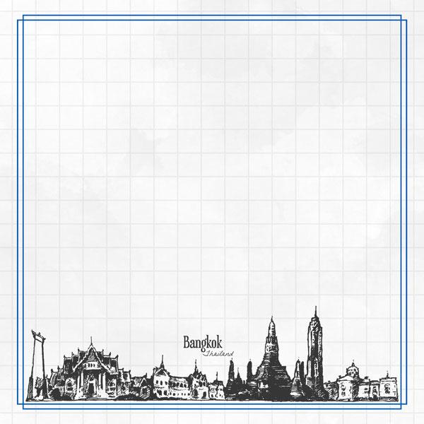 Bangkok Adventure  - dubbelzijdig scrapbook papier