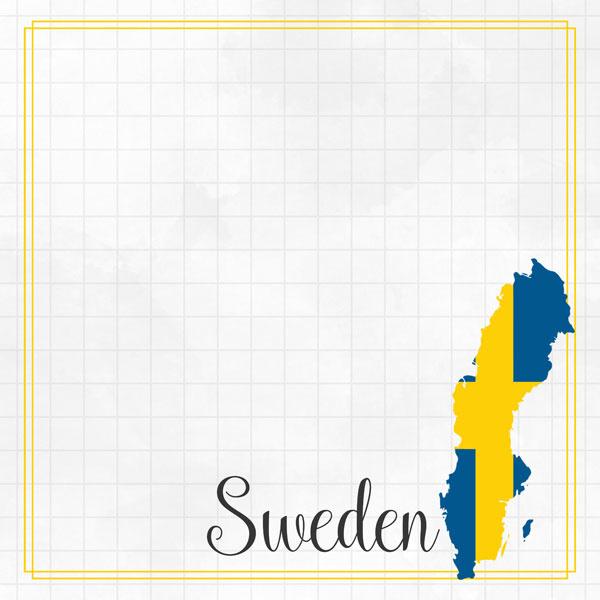 Sweden Adventure border - dubbelzijdig scrapbook papier