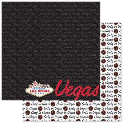 Las Vegas paspoort serie papier 30.5 x 30.5 cm