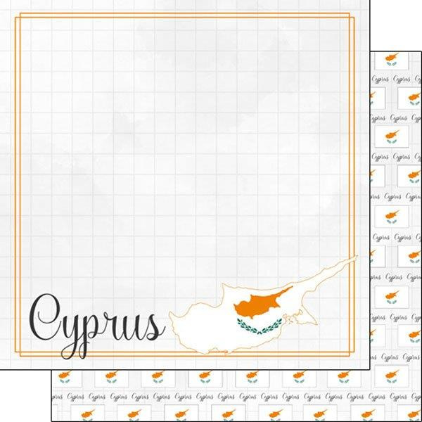 Cyprus - Adventure border - thema papier 30.5 x 30.5 cm