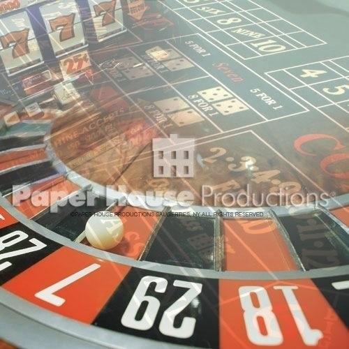 Las Vegas scrapbook - Roulette papier 30.5 x 30.5 cm