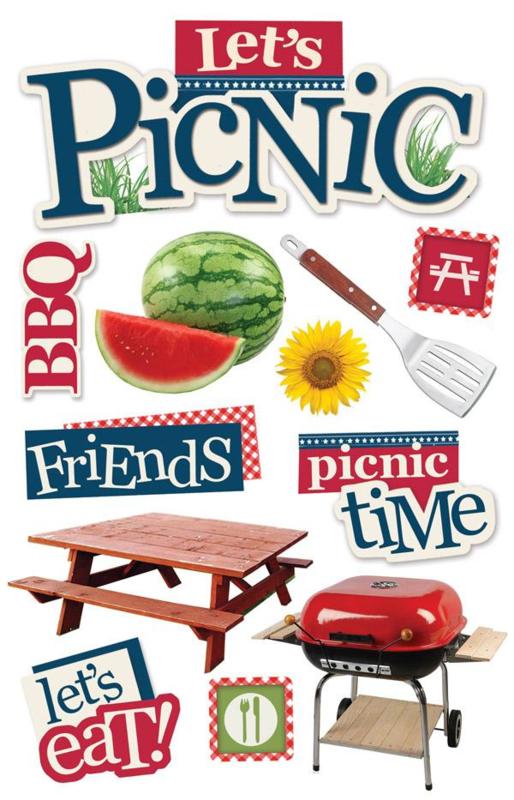 Let's picnic - 3D stickers