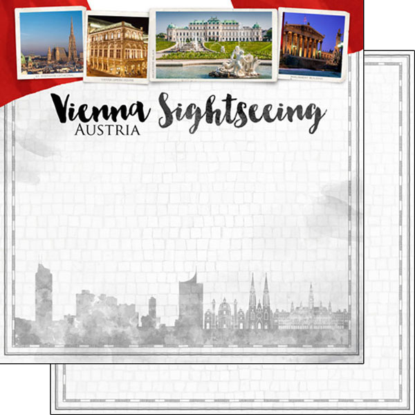 Vienna Sightseeing Austria - scrapbook papier