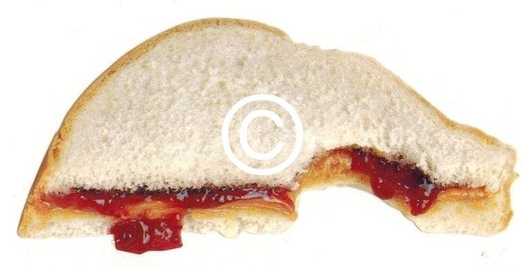 Sandwich jam - stans decoratie - 10x4.5 cm