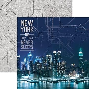 Scrapbook papier new york -  the city that never sleeps - 30.5 x 30.5 cm