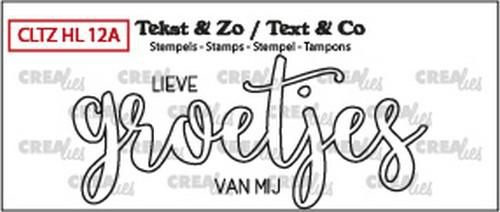 Crealies Tekst & Zo Groetjes / open (NL)