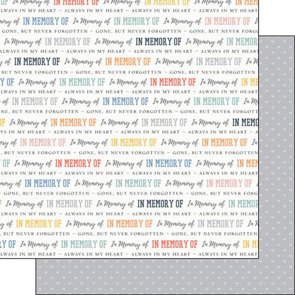 In Memory of  - dubbelzijdig Scrapbook papier - 12x12 inch