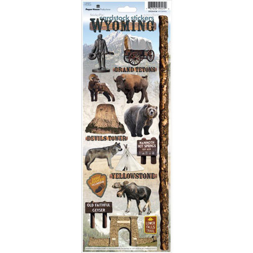 Cardstock Stickers Wyoming