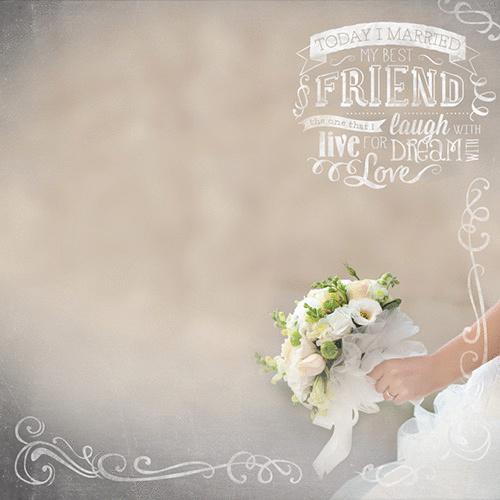 Bridal Bouquet papier 30.5 x 30.5 cm