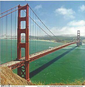 California - Golden Gate Bridge- 12x12 Paper