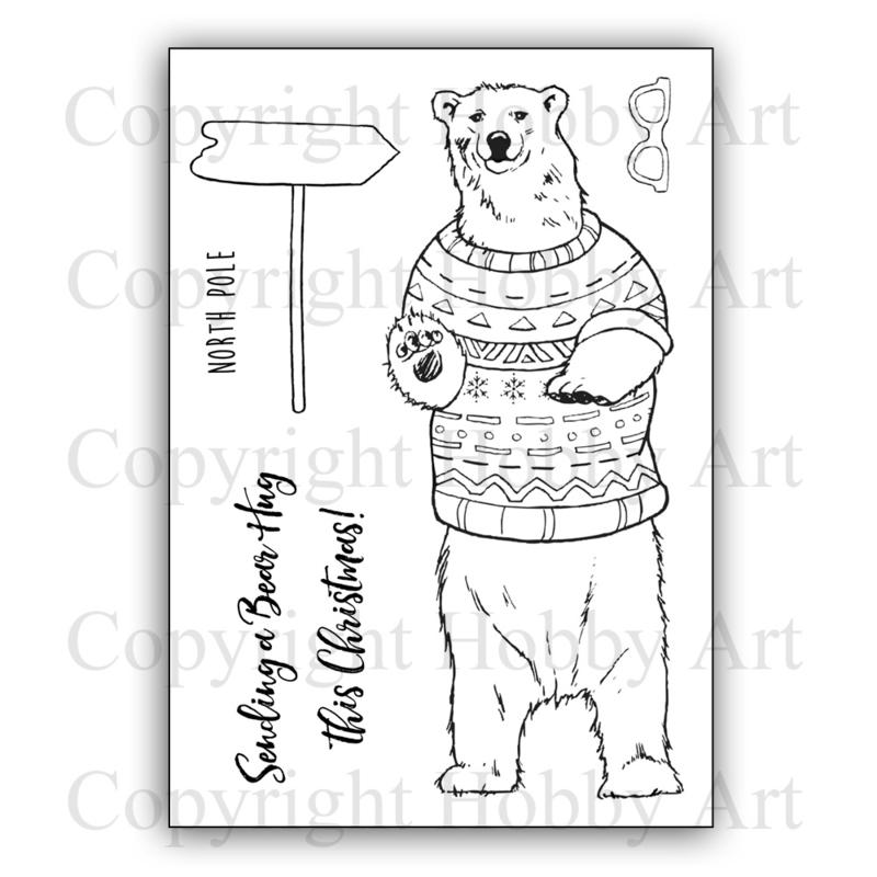 Clear stamps - Kerst - Bear Hug