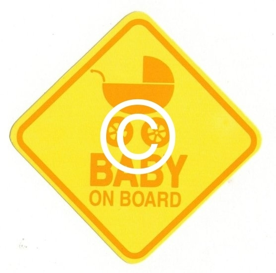 Baby on board - stans decoratie - 8x8 cm
