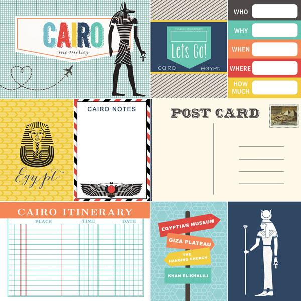 Cairo Memories  Journal - 12 x 12 inch