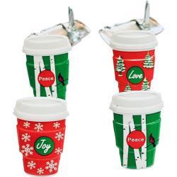 Holiday coffee mugs -  splitpen decoratie - zakje 12 stuks